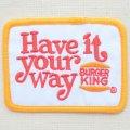 ロゴワッペン バーガーキング Burger King(レクタングル) *メール便可