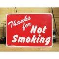看板/プラサインボード 禁煙エリア Thanks For Not Smoking
