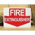 看板/プラサインボード 消火栓はここです Fire Extinguisher