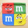 アメリカンキャラ巾着袋(S) M&M's エムアンドエムズ チョコレート *メール便可