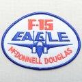ミリタリーワッペン F-15 Eagle イーグル 戦闘機 アメリカ空軍 ホワイト/ブルー *メール便可