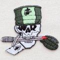 ミリタリーワッペン War Skull スカル どくろ *メール便可