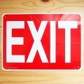 看板/プラサインボード 出口 Exit