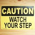 看板/プラサインボード 足元注意 Caution Watch Your Step