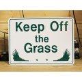 看板/プラサインボード 芝生に入るな Keep Off The Grass