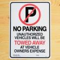看板/プラサインボード 駐車禁止 No Parking(Towed Away)