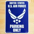看板/プラサインボード アメリカ空軍専用駐車場 U.S.Air Force Parking Only