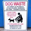 看板/プラサインボード ラージサイズ 犬のフンの後始末をきちんとしましょう Dog Waste