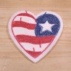 他の写真3: もこもこワッペン USAハート(アメリカ国旗/星条旗柄) *メール便可