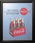 鏡 コカコーラ Coca-Cola パブミラー(6 Bottle Pac/ビッグサイズ)