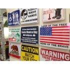 他の写真1: 看板/プラサインボード 自由人の国 勇者の故郷(星条旗) Land of the Free