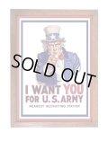 アメリカンレトロポスター(額入り) アンクル・サム Uncle Sam