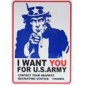 看板/プラサインボード アメリカ陸軍に君が必要だ(アンクルサム) I Want You for U.S.Army