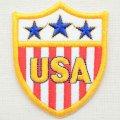 エンブレムワッペン USA アメリカ W339 *メール便可