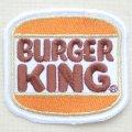 ロゴワッペン Burger King バーガーキング(スクエア)*メール便可