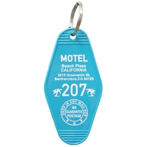 画像1: HOTEL KEY HOLDER/ホテルキーホルダー/MOTEL CALIFORNIA/モーテル カリフォルニア *メール便可