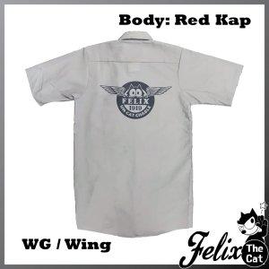 画像1: Felix UCC Work Shirt Silver/フィリックス UCC ワークシャツ シルバー/Wing/ウイング