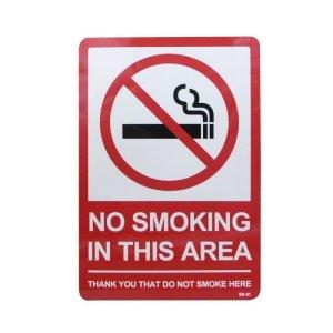 画像1: Sign Sticker/サインステッカー/NO SMOKING IN THIS AREA/禁煙エリア