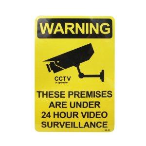画像1: Sign Sticker/サインステッカー/WARNING/24時間監視中
