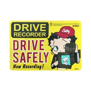 画像1: Sign Sticker/サインステッカー/DRIVE SAFELY/ドライブレコーダー搭載