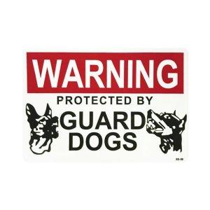 画像1: Sign Sticker/サインステッカー/WARNING GUARD DOGS/番犬注意