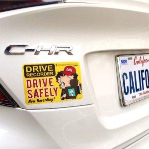 画像2: Sign Sticker/サインステッカー/DRIVE SAFELY/ドライブレコーダー搭載