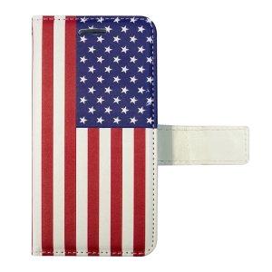 画像1: FLIP CASE/USA FLAG/フリップケース/アメリカ国旗(iPhone7/8)