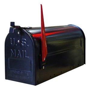 画像1: STEEL RURAL MAIL BOX/BLACK/スチールルーラルメールボックス/ブラック(ポールセット)