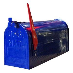 画像1: STEEL RURAL MAIL BOX/NAVY/スチールルーラルメールボックス/ネイビー(ポールセット)