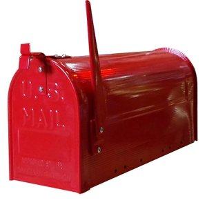 画像1: STEEL RURAL MAIL BOX/RED/スチールルーラルメールボックス/レッド(ポールセット)