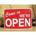 看板/プラサインボード 営業中 Come In We're Open オープン