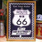 他の写真1: アメリカンレトロポスター(額入り) ルート66 Route66