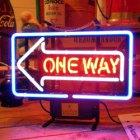 他の写真1: [送料無料] ネオンサイン ワンウェイ One Way(一方通行)