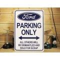 看板/プラサインボード フォード専用駐車場 Ford Parking Only