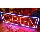 他の写真1: [送料無料] ネオンサイン Open オープン(LL)
