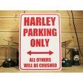 看板/プラサインボード ハーレー専用駐車場 Harley Parking Only