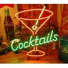 他の写真1: [送料無料] ネオンサイン Cocktails カクテルグラス