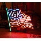 他の写真1: [送料無料] ネオンサイン USA Flag アメリカ国旗 星条旗