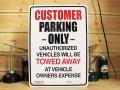 看板/プラサインボード お客様専用駐車場 Customer Parking Only