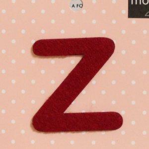画像2: アルファベットワッペン z レッド applique アップリケ *メール便可