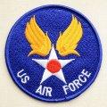 ミリタリーワッペン US Air Force エアフォース(ブルー/ラウンド) *メール便可
