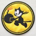 ミリタリーワッペン VF-31 フィリックス ボム(イエロー/ラウンド)