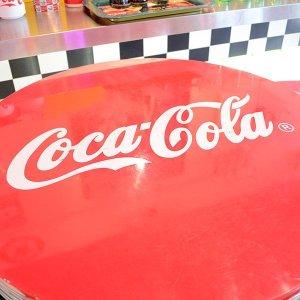 画像2: [送料無料] ハイテーブル コカコーラ Coca-Cola 机