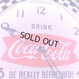 画像3: [送料無料] 壁掛け時計 Coca-Cola コカコーラ ネオンクロック(シルバー/パープル)