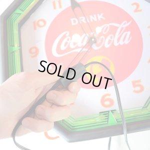 画像5: [送料無料] 壁掛け時計 Coca-Cola コカコーラ ネオンクロック(ブラック/グリーン)