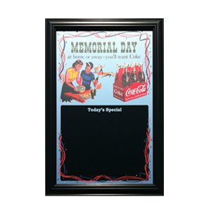 画像1: 鏡 コカコーラ Coca-Cola パブミラー&メニューボード(メモリアルデー/57x42cm)