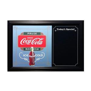 画像1: 鏡 コカコーラ Coca-Cola パブミラー&メニューボード(ポーズ/42x57cm)