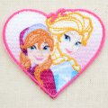 ワッペン ディズニー アナと雪の女王(アナ&エルサ/ハート) *メール便可