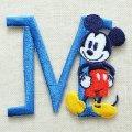 ワッペン ディズニー ミッキーマウス アルファベット (M/ブルー) * メール便可  [MY4001-MY311]