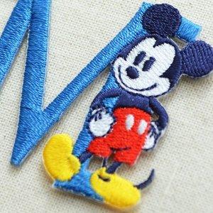 画像2: アルファベットワッペン ディズニー ミッキーマウス M ブルー *メール便可